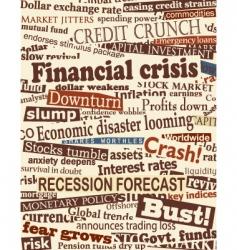 financial crisis headlines vector image