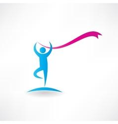 free callisthenics icon vector image vector image