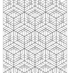 Futuristic continuous black and white pattern vector