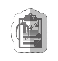 grayscale silhouette with middle shadow sticker vector image