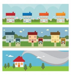 house banners vector image vector image