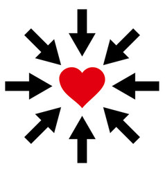 impact love heart icon vector image vector image