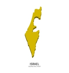 Isometric map of israel detailed vector
