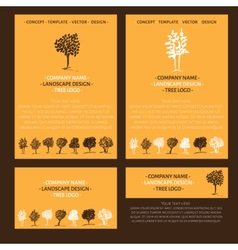 Landscape logo design concept vector image vector image