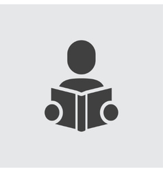 Man reading book icon vector image