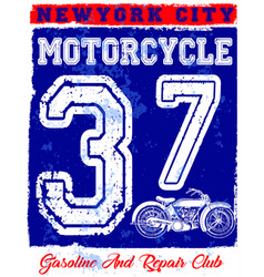 Motorcycle poster design fashion tee graphic vector