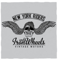 New york riders poster vector