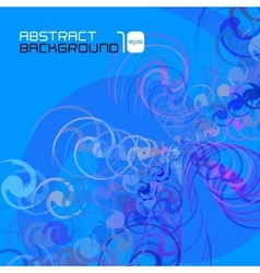 Polygonal abstract blue background vector image