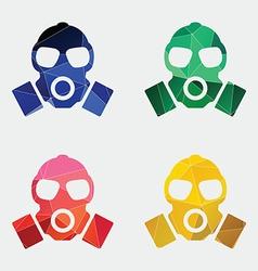 respirator icon Abstract Triangle vector image