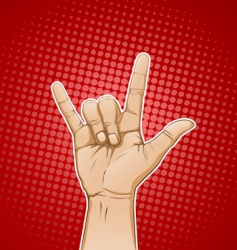 rock sign color vector image