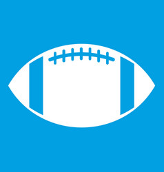 Rugby ball icon white vector