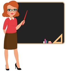 Teacher at the blackboard vector image vector image