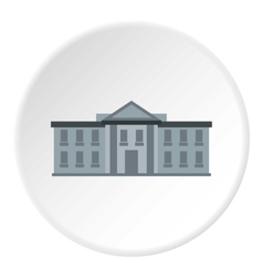 White house USA icon flat style vector image