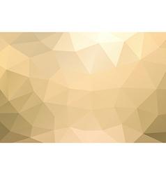 Yellow gold abstract geometric rumpled triangular vector