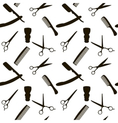 Barber Shop or Hairdresser background seamless vector image