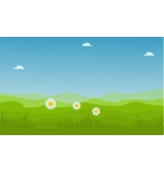 Landscape hill at spring backgrounds vector