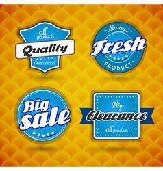 Set of blue labels vector image