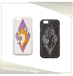 design case for phone fox vector image