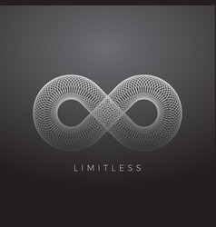 Abstract infinity symbol made with circles vector