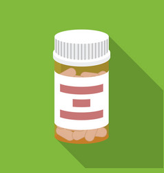 Prescription bottle icon in flat style isolated on vector