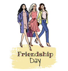 Friendship day card vector