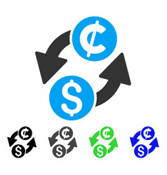 Dollar cent exchange flat icon vector