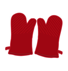pair of kitchen gloves vector image