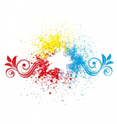 Splatter background vector