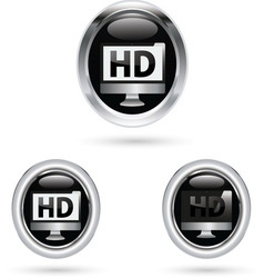 Hd black icon vector