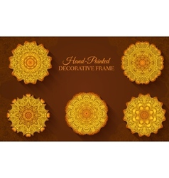 Hand drawn abstract background ornament concept Ve vector image