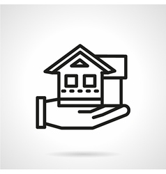 Line icon for rental house agency vector