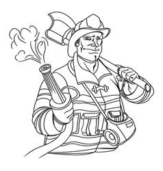 Fireman resize vector
