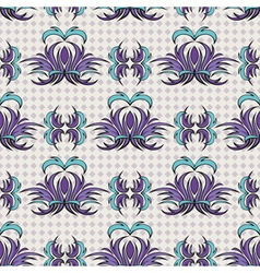 Seamless pattern the blue tracery vector