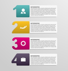 Creative colorful numbered infographic design vector