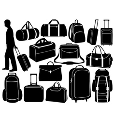 Different bags set vector