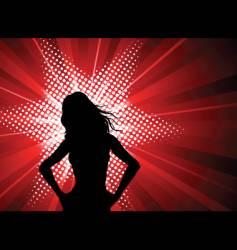female starburst vector image