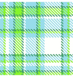 Seamless checkered green blue color pattern vector