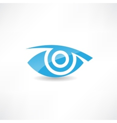 abstract eye icon vector image
