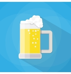 beer mug isolated on a blue background vector image vector image