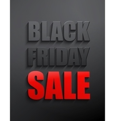 Black friday sales typographic poster vector image vector image