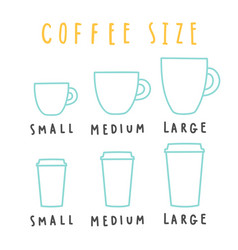 choose coffee size vector image