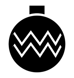 Christmas ball icon simple style vector image vector image