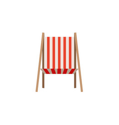 Color silhouette of beach chair front view vector