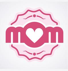 colorful mom emblem design elements for vector image vector image