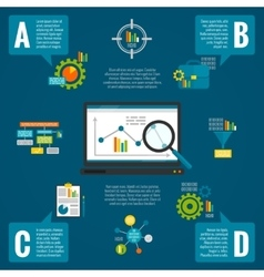 Data analytics infographic set vector