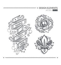 Design elements in vector image
