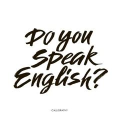 Do you speak english modern calligraphy text vector