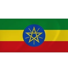 Ethiopia waving flag vector