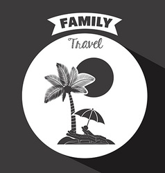 Family travel design vector image vector image