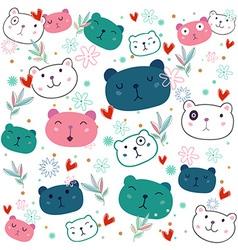 Fancy bear pattern vector